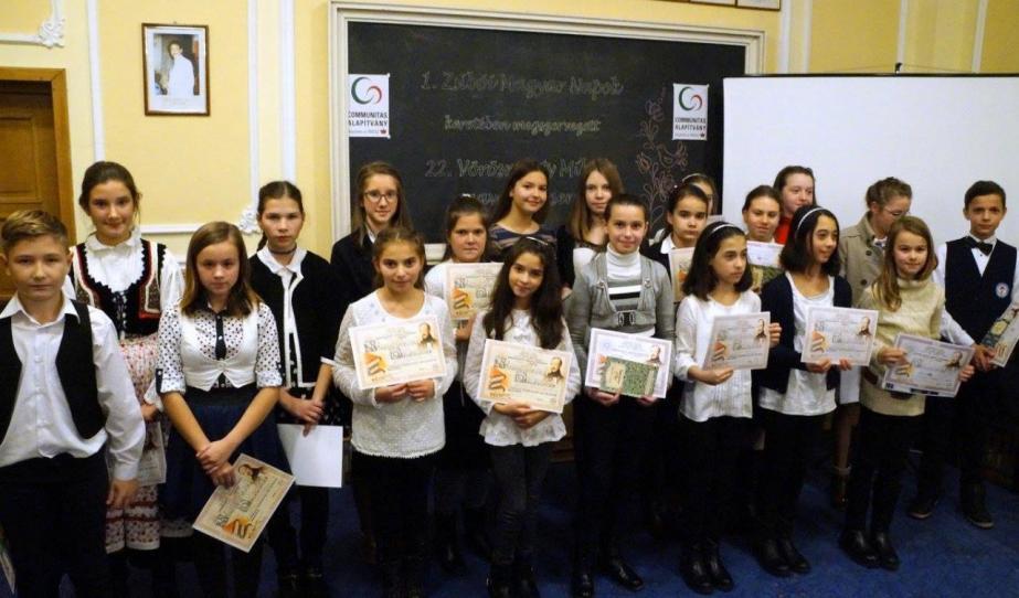 Vörösmarty szavalóverseny az első Zsibói Magyar Napokon